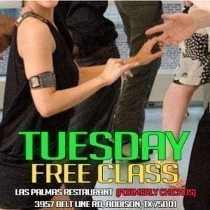 First Class Free Salsa-Bachata Tuesday
